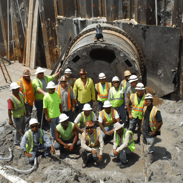 Huxted Tunneling Construction Crew